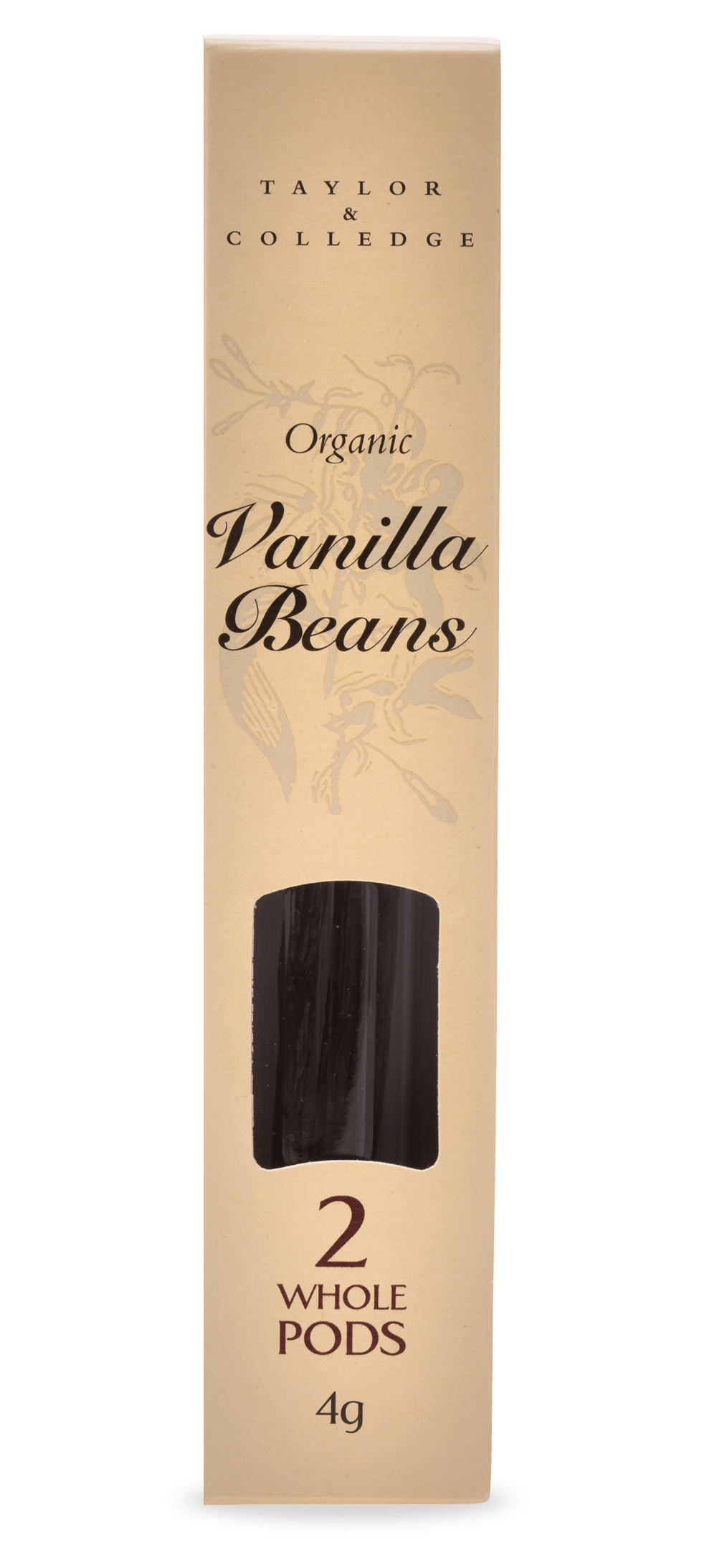 Organic Vanilla Beans (Two whole pods) - Taylor and Colledge