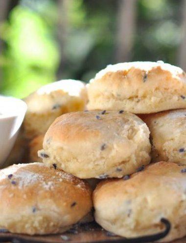 Vanilla Lavender Scones - Vanilla recipes - Taylor and Colledge