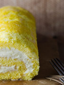 Lemon Cream Roulade - Vanilla recipes - Taylor and Colledge