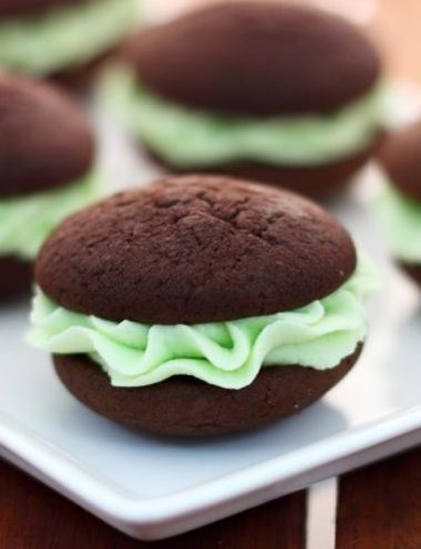 Choc Mint Whoopie Pies - Vanilla recipes - Taylor and Colledge